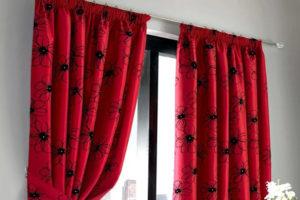 Красная штора
