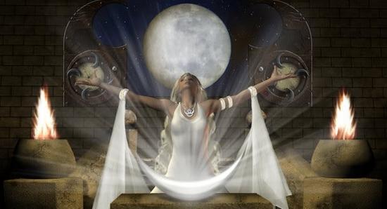 Проведение ритуалов в полнолуние